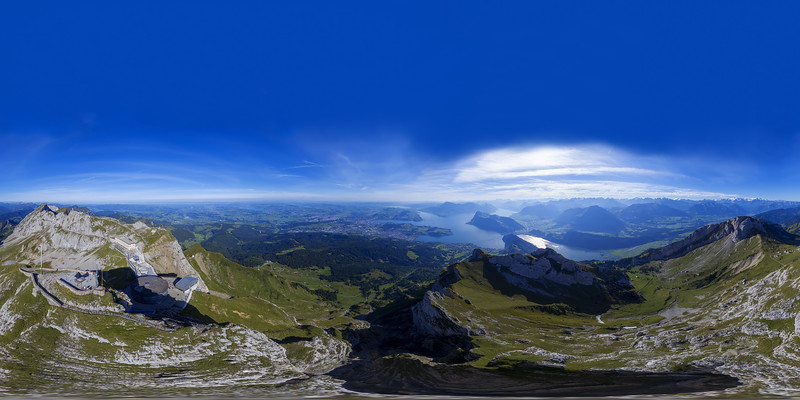 Aerial view over Mount Pilatus