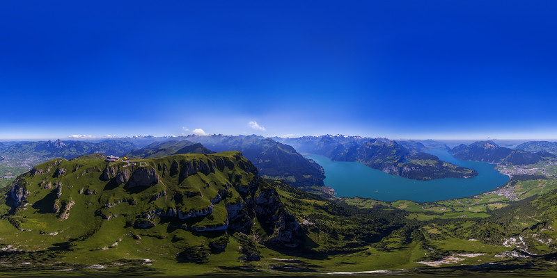 Aerial view from Fronalpstock / Stoos