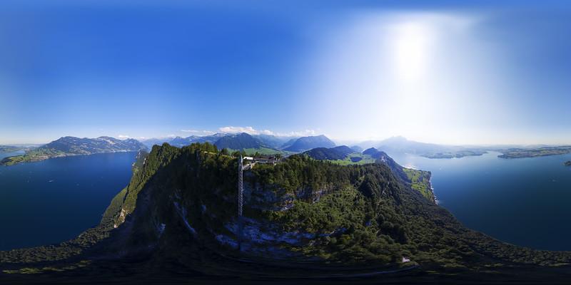Aerial view to Hammetschwandlift