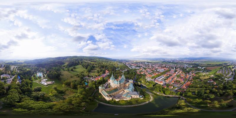 Aerial view Castle Bojnice Slovakia