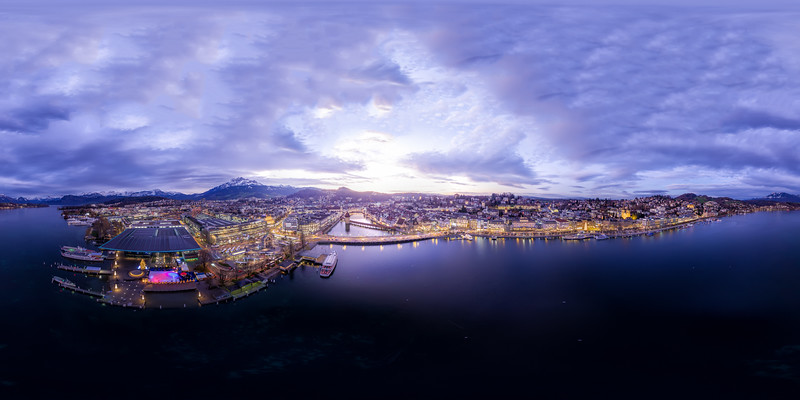 Aerial view over Lucerne