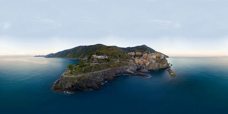 Aerial view Manarola  - Cinque Terre