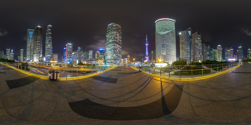 Shanghai -  Skyline with the Oriental Pearl Tower