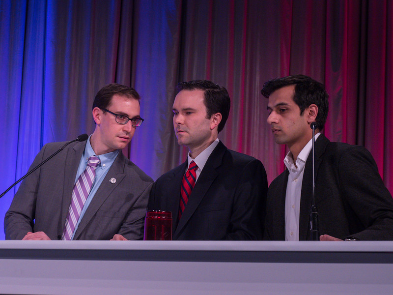 Attendees and Jeopardy competitors during ACC Inter-state FIT Jeopardy Competition Finals