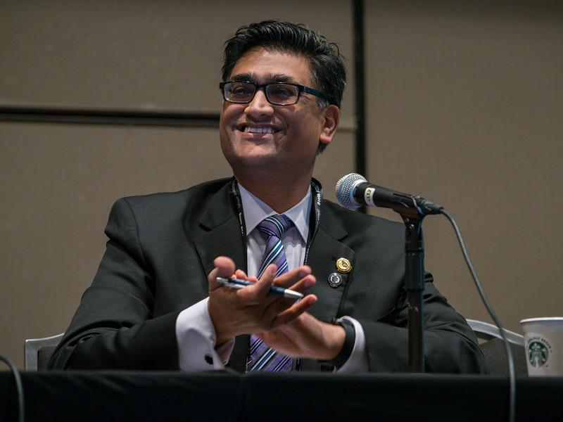 Dr. Akshay Khandelwal during BOG/BOT Town Hall