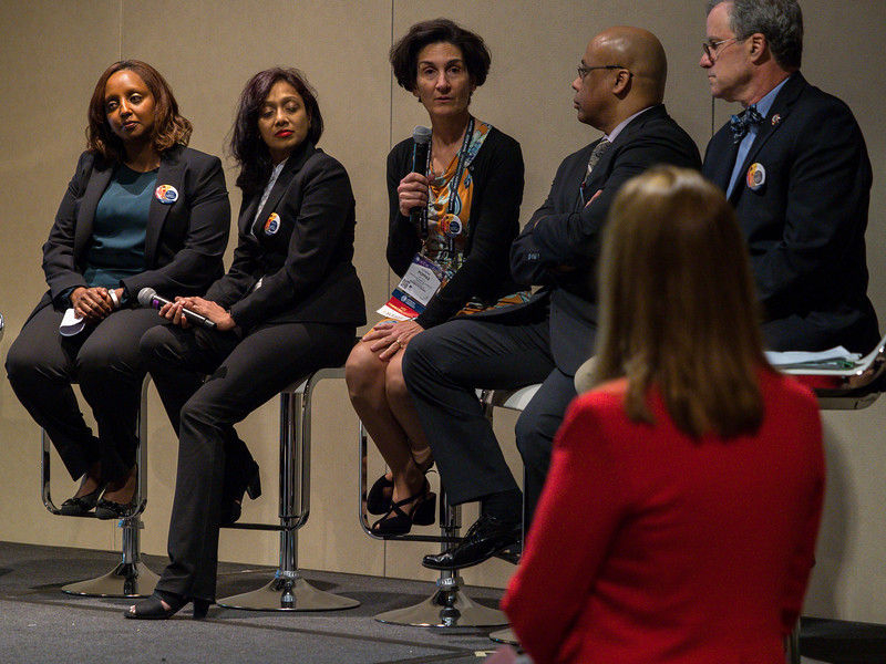 Speakers and attendees during Diversity and Inclusion Town Hall