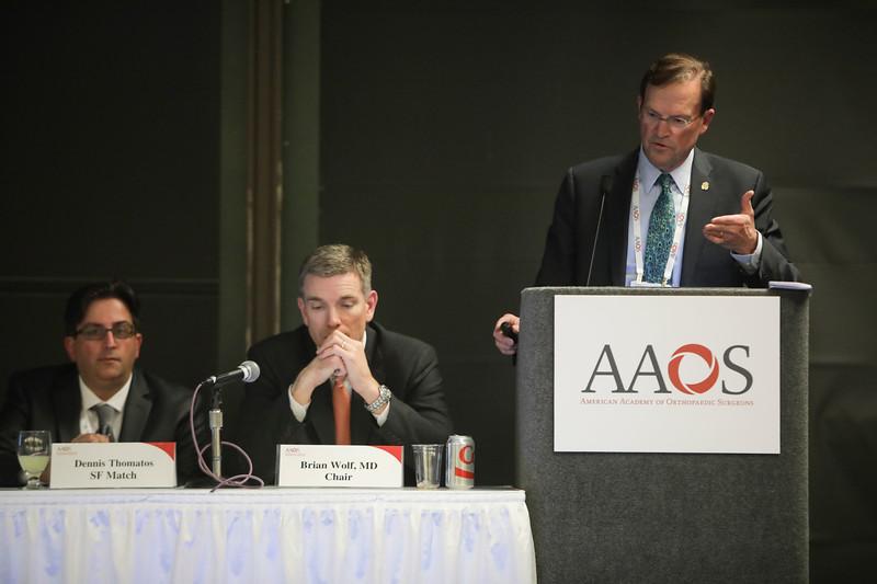 David Halsey, MD, speaks during Fellowship Directors? Forum