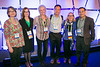 Attendees and speakers including Valerie M. Weaver, PhD, Ybin Kang, PhD, and Sandra S. McAllister, PhD,  during Tumor Microenvironment Working Group (TME) Town Hall Meeting and Reception