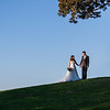 Bride & Groom on Hill