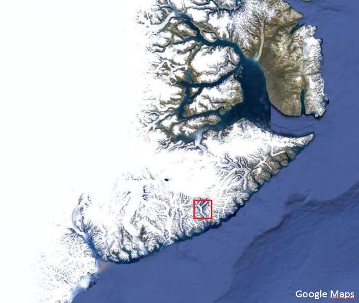 Greenland Map Sortebrae 2