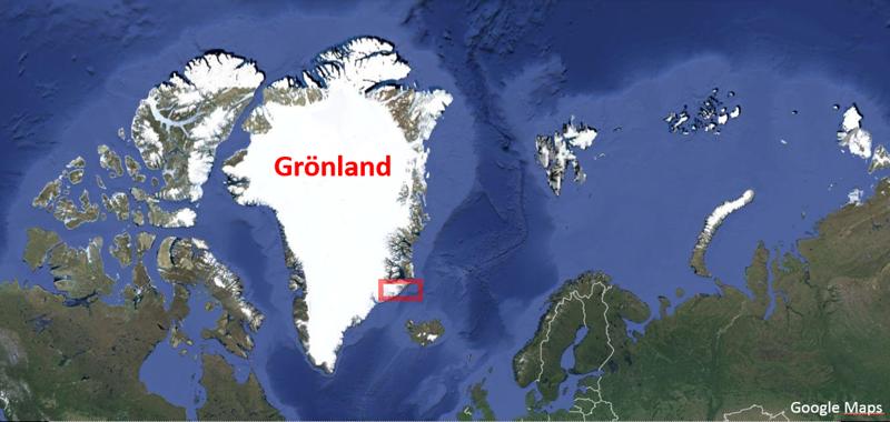 Greenland Map Sortebrae