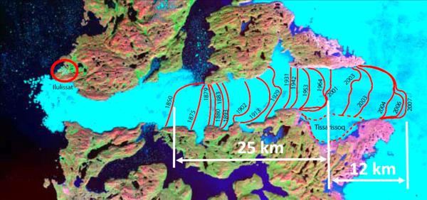 Jakobshavn Isfjord 1850 - 2007