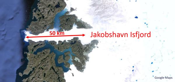 Greenland Map Jakobshaven Isfjord 2