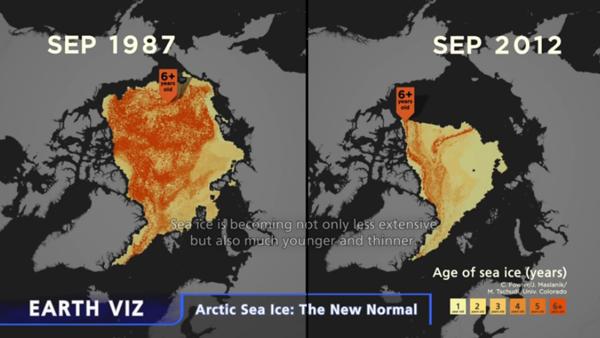 Arctic Sea Ice 1987 - 2012