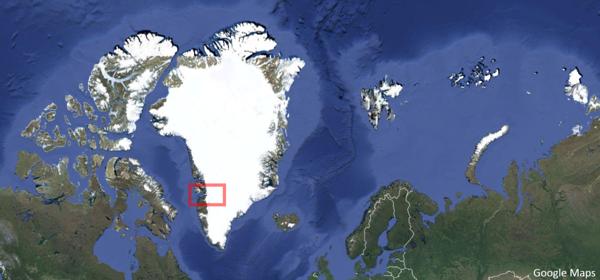 Greenland Map Jakobshaven Isfjord 1