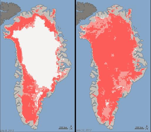 Greenland Icesheet Melting 2012