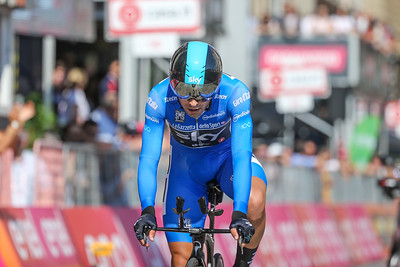 Giro Time Trial Celebrations and top Finishers