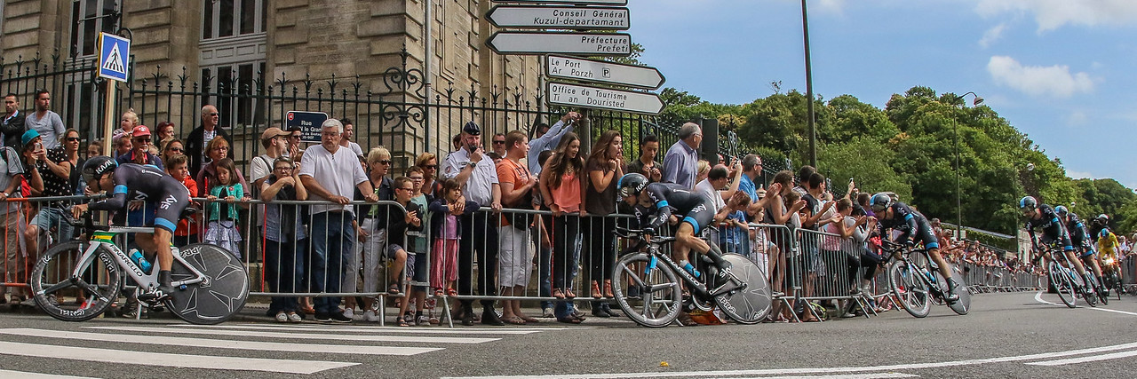 Tour Defrance Stage 9 Vannes Time Trial Start