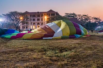 Hot air Balloons Chiang Mai Lift off 2018