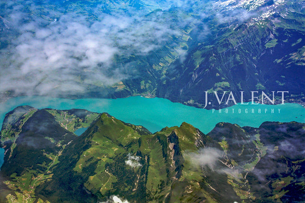 Aerial View of the Swiss Alps