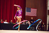 Rhythmic gymnast Maria Kadobina of Belarus performs with ribbon during 2013 LA Lights Rhythmic Gymnastics meet in Culver City, CA.  January 26th, 2013 (photo by James Glader)