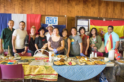 2017 International Education Week at Kapiolani Community College. The Spanish Club and French Club set up displays of flags, books, artwork, food samples, and games for International Week.
