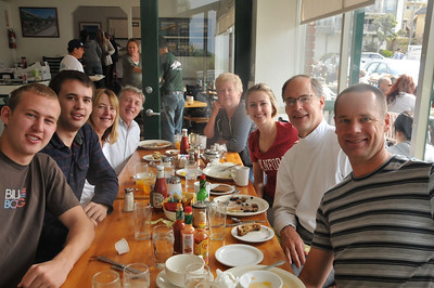 Breakfast with Fred's family before flying to Kathmandu.