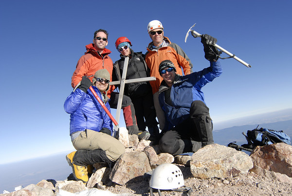 A happy group on the summit of Iztaccihuatl (17,158)