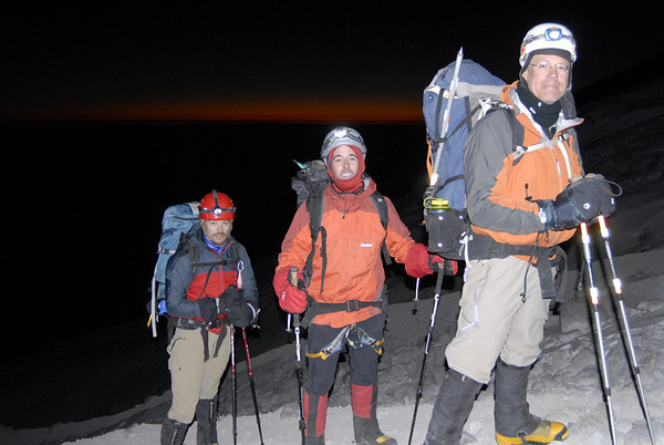 Approaching the Jamapa Glacier near sunrise.