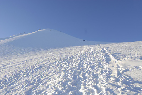The Jamapa Glacier on Orizaba.