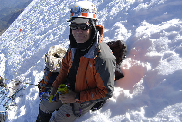 Scott McCay enjoying the impressive view while taking a break.