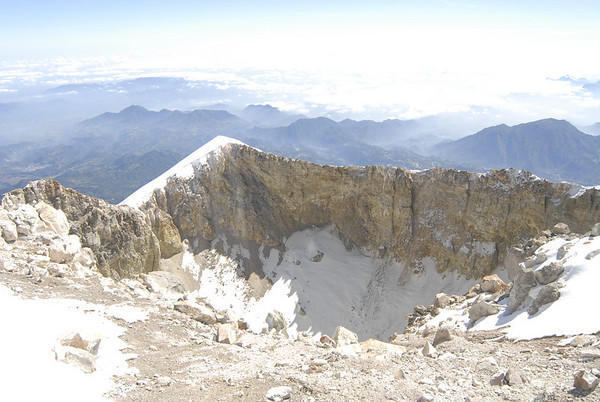 Part of Orizabas impressive crater