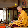 Gen Kelsang Chokga guides the morning meditation.