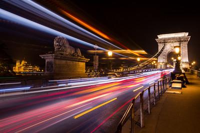 Budapest Light Trails