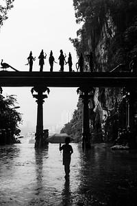 A Rainy Walk at Batu Caves