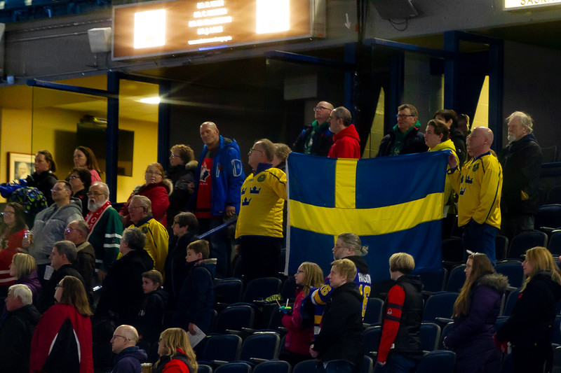 November 10, 2018 - Saskatoon, SK - Team Sweden fans travelled to Saskatoon/Canada to cheer on Sweden during the tournament and Bronze medal game.