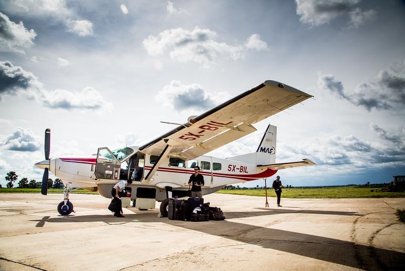 Behind the scenes photos, domestic flight to Gulu, a town in Northern Uganda, MAF, flight
