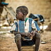 Fatau (8), boy in community where Compassion has an implementing church partner, no siblings in the program