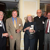 Fr. John Ross Sima, SJ and guests (from left) Dennis Hughes, Rob Martin, Margaret Tower and Dave McNulty