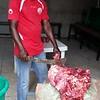 A butcher in Dodoma, Tanzania