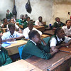 Students in on of the classrooms at the old school.