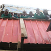 Students on the second floor of the original school in the heart of Kibera Slum.