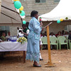 St. Aloysius Gonzaga Principal - Beatrice Maina - Welcoming guests at the grand opening of the new school in June, 2010.
