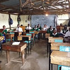 A typical classroom in one of the two school buildings currently located within the Kibera slum.