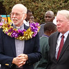 Fr. Terry Charlton, SJ and U.S. Ambassador Michael Ranneberger at the Groundbreaking Ceremoney for St. Aloysius Gonzaga.
