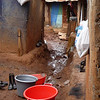The slum of Kibera is made up of 800,000 - 1,000,000 people and is approximately 1 Square acre.  This is a typical path to some of the small homes.