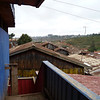 From the second floor of the school building you can see the rooftops of the slum.  The new school building will be built in the distance - just outside the slum.