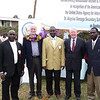 Humphrey Vigisa, Development Director, Fr. Terry Charlton,SJ, Co-Founder and Chaplain, Dionisio Kiambi, Principal,   Michael Ranneberger, U.S. Ambassador and Cristian Life Community President at the  groundbreaking for the new school during the feast day celebration of St. Aloysius Gonzaga.