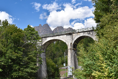 Back in Cortina, this is the train trestle above our hotel that has been re-purposed as part of a greenway.