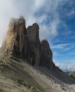 The three towers from the general area of the saddle.